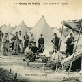 Camp de Mailly, rangée de tentes